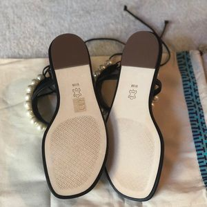 bf0320c2dbbd Tory Burch Shoes - Tory Burch Melody Ankle Strap Sandal - Pearl